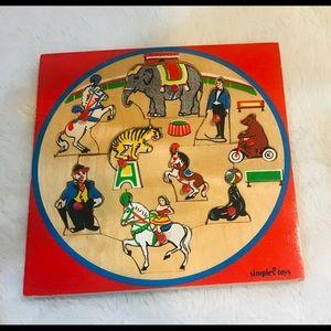 Children's wooden puzzle, Circus theme
